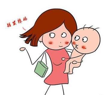 妈妈陪伴孩子读书卡通