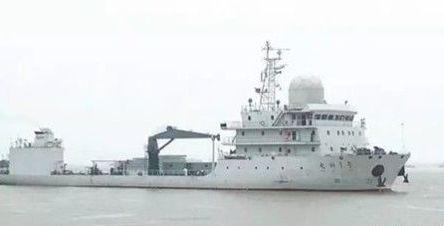 """我国首艘海洋综合试验船""""电科1号""""交付"""