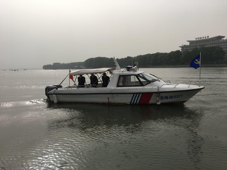 东湖海事处助力汉马安保